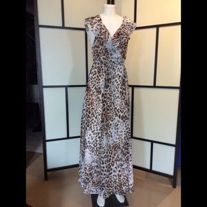 Hot Miami Styles lined wrap around maxi/coverup  L